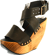 Minimarket - Space Shoe Wood Wedge Sandal Black