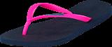 Havaianas - Slim Logo Navy Blue/Pink