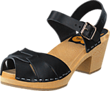 Swedish Hasbeens - Peep Toe High Black/Nature