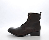 Marc O'Polo - Lace Flatheel Bootie Washed Buffalo Dark brown