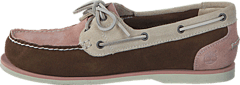 Timberland - EK Classic Unlined Boat Shoe Brown/Light Pink/Off White
