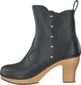 Swedish Hasbeens - Button Boot Black / Nature
