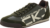 Calvin Klein Jeans - Cale Coated Canvas/ Suede Mos Moss