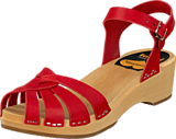 Swedish Hasbeens - Cross Strap Debutant Red