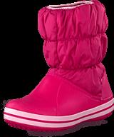 Crocs - Winter Puff Boot Kids Fuchsia-Bubblegum