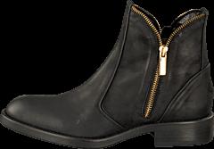 A Pair - Zipper Bootie Black