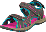 Merrell - Panther Sandal Grey/Turq