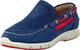 Sebago - Kinsley Slip on Navy/Red