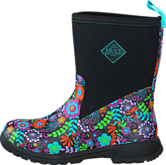 Muckboot - Breezy Mid Black/Flowers