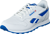 Reebok Classic - Cl Leather Reflect White/Blue Sport/Silver Met