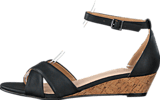 Bianco - Low Wedge Sandal Black