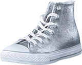Converse - All Star Metallic-Hi Pure Silver/White/White
