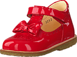 Angulus - Mary janes with bow and velcro Red