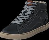Mustang - 4108601 Men's High Top Sneaker Black