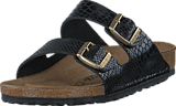 Birkenstock - Arizona Regular Birko-Flor Shiny Snake Black