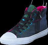 Converse - All Star Sport Zip Shine Black/Magenta Glow