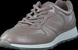 Ecco - 430563 Sneak Leather Moon Rock-Silver