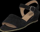 Angulus - Wedge-heeled Sandal W. Buckle Black