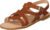 Angulus - Sandal With Buckle Tan
