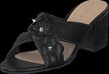 Bianco - Flower Cross Sandal Black