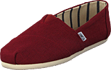 Toms - Alpargata Black Cherry Heritage Canvas