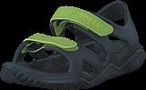 Crocs - Swiftwater River Sandal K Black/volt Green