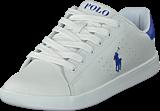 Ralph Lauren Junior - Quilton J White Leather W Royal Pp