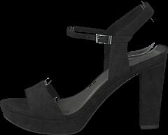 Tamaris 28398-001 Black, Schuhe, Absatzschuhe, Sandaletten, Schwarz, Female, 38