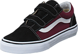 Vans - Uy Old Skool V Pop Black/og Burgundy